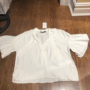 NWT Zara white blouse